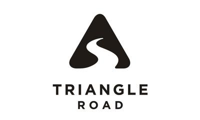 Triangle Street Road River Creek symbol logo design