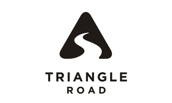 Triangle Street Road River Creek symbol logo design