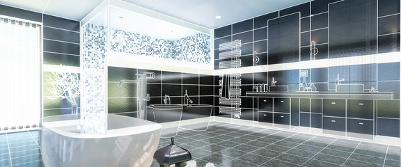 Project of a Luxurious Bathroom (panoramic)