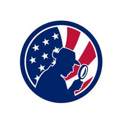 American Private Investigator USA Flag Icon
