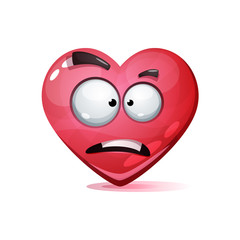 Cartoon character heart. Love smiley. Vector eps 10