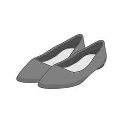 Flat Grey Shoes Fashion Style Item Illustration Design