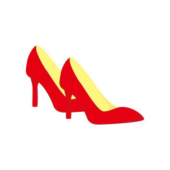 Red High Heels Shoes Fashion Style Item Illustration Design