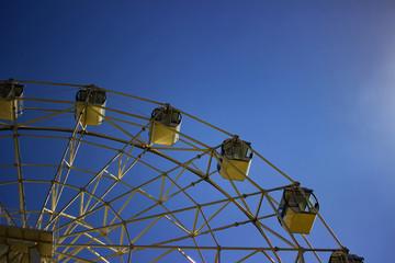 Ferris wheel white colour