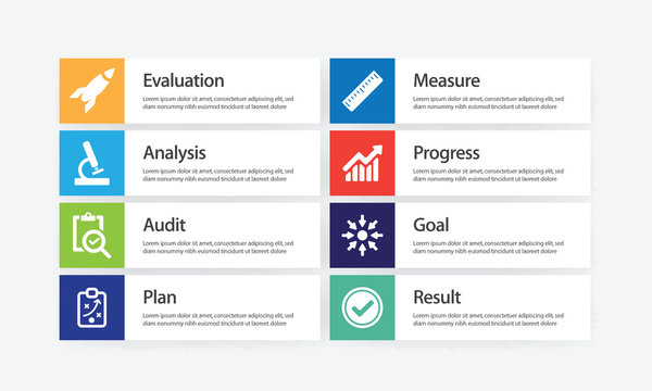 Assessment Infographic Icon Set