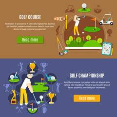 Wall Mural - Golf Championship and Course Banners