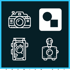 Set of 4 picture filled icons