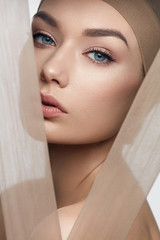 Skin Care Beauty. Woman With Beautiful Face