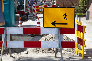 Footpath reconstruction in the Netherlands