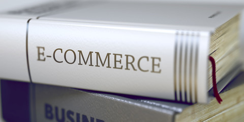 Book Title on the Spine - E-commerce.