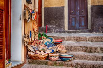Gift shop in the old village of Castelsardo