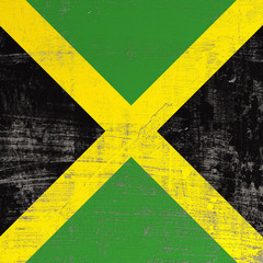 scratched Jamaica flag