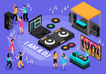Dj And Music Illustration