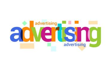 Advertising  Overlapping vector Letter Design