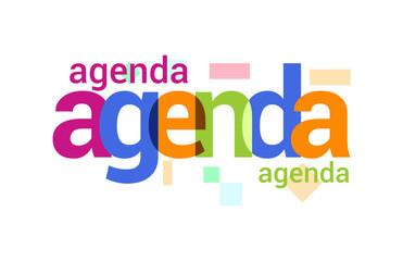 Agenda Overlapping vector Letter Design