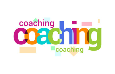 Coaching  Overlapping vector Letter Design