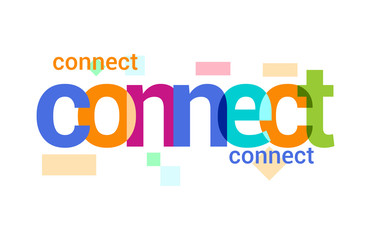 Connect Overlapping vector Letter Design