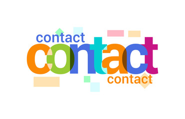 Contact Overlapping vector Letter Design