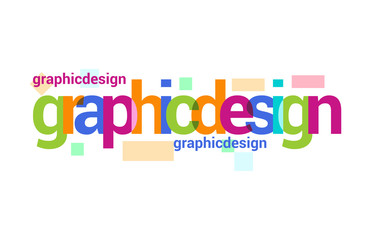Graphic Design Overlapping vector Letter Design