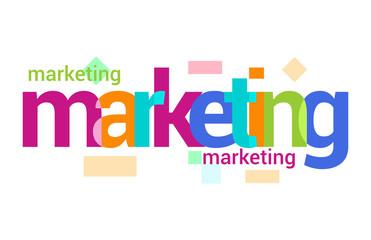 Marketing Overlapping vector Letter Design