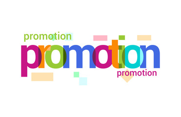 Promotion Overlapping vector Letter Design