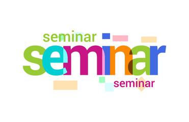 Seminar Overlapping vector Letter Design