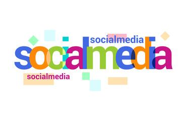 Social Media Overlapping vector Letter Design