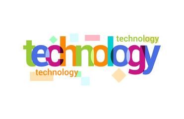 Technology Overlapping vector Letter Design
