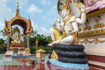 Guan Yin und Ganesha, Tempelanlage Wat Plai Laem (Samui, Thailand)