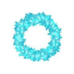 Alphabet Crystal diamond 3D virtual set letter O illustration Gemstone concept design blue color, isolated on white background, vector eps 10