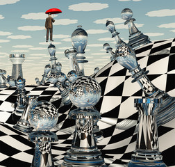 Surreal Chess Game