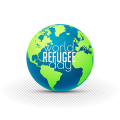nice and beautiful abstract or poster for World Refugee Day with nice and creative design illustration.