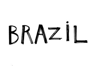Typography slogan. Hand drawn Brazil vector for t shirt printing.