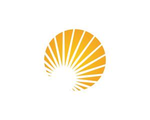 Sun Vector illustration Logo Template design