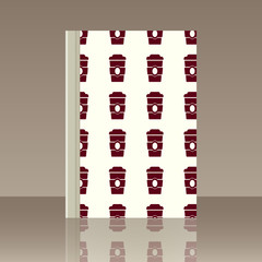 Coffee and Book. Realistic image of the object