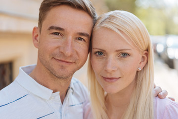 Portrait of young smiling couple