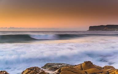Sunrise Seascape with Wave