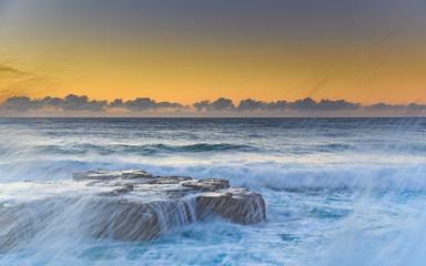 Sunrise Seascape through the Splash