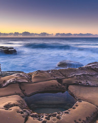 Sunrise Seascape and Rock Pool