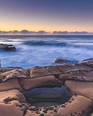 Sunrise Seascape and Rock Pool