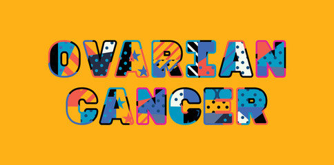 Ovarian Cancer Concept Word Art Illustration