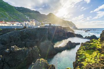 Wall Mural - Coastline at Porto Moniz, Madeira island, Portugal