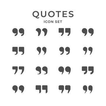 Set icons of quotes