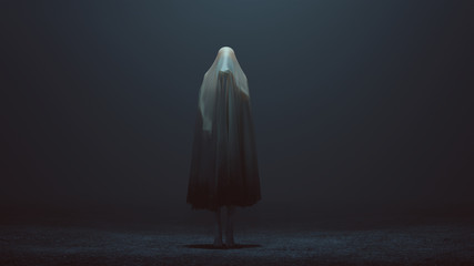Evil Spirit with its Hand Out in a Foggy Void 3d Illustration