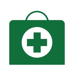 Vector green cross medical symbol