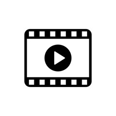 Play video icon. Movie icon. Video player symbol