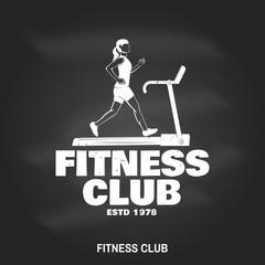 Fitness club badge. Vector illustration.