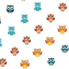 nice owl pattern logo