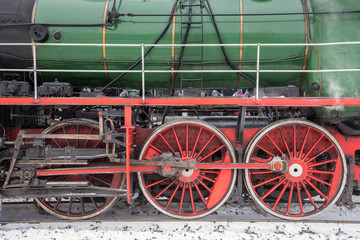 part of the steam locomotive