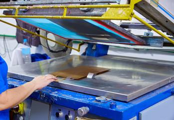 Serigraphy print bags machine printing factory